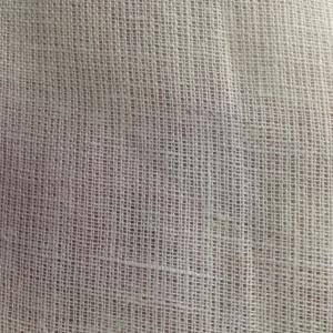 210GSM White Organic Hemp Fabric , Plain Style Wet Spun Fabric 12Nm * 12Nm Manufactures
