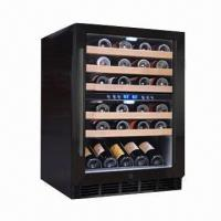 China 45-bottle Capacity Dual Zone Wine Refrigerator, Built-in Blue LED Light, 120L/4.24cuft Volume on sale