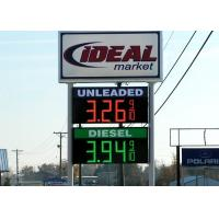 Outside led price signs for gas stations with 12VDC Power Supply Digit Segments Manufactures