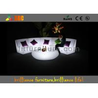 16 Colors Changeable LED Bar Tables / Illuminated round bar table Manufactures