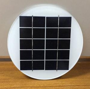 Better Houseware 5V 2W Dia158MM Diameter Round Circle Mono Photovoltaic Glass Laminated Solar Panel Manufactures