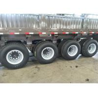 3 Axles 13T Fuwa Semi Low Bed Trailer Carbon Steel For Transportation Manufactures