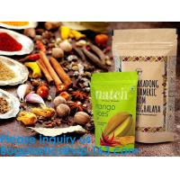 SIDE GUSSET COFFEE BAGS,STAND UP COFFEE BAGS,KRAFT PAPER COFFEE BAGS Foil Zip Lock Stand Up Food Pouches Bags with Notch Manufactures