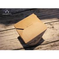 Kraft Paper Takeaway Food Containers Noodles Boxes Flexo Printing / Offset Printing Manufactures