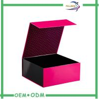 Buy cheap Cardboard / Art Paper Magnetic Closure Gift Box , Foldable Magnetic Paper Box from wholesalers