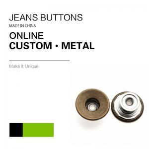 China Antique Brass Custom Jeans Metal Button Denim Clothing Bulk Trims on sale