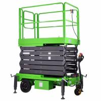 14M Small Electric Scissor Lift With Motorized Device Loading Capacity At 450Kg Manufactures