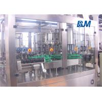 China Automatic Glass bottle Rinsing Filling Capping machine for juice with metal cap on sale
