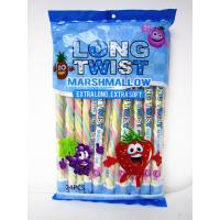 Long twist fruit flavor mashmallow / extra long and soft / nice-looking snack mashmallow Manufactures