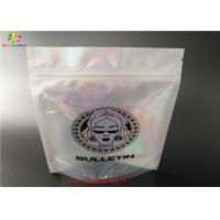 Holographic Stand Up Zip Lock Bag Laminated Poly Large Plastic Packaging Hologram Foil Sticker Manufactures