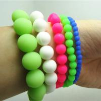 high quality silicone bead bracelet,silicone bead necklace Manufactures