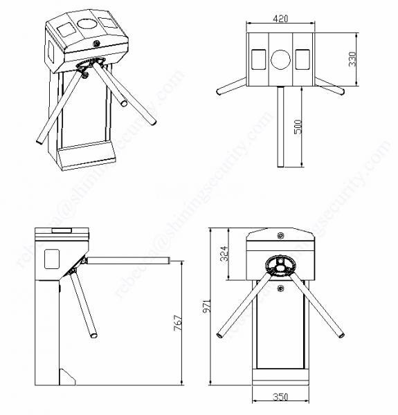 tripod turnstile ODM barrier gate design .png