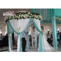 White Luxury Wedding Tents Transparent Aluminum Frame Pleated Roof Manufactures
