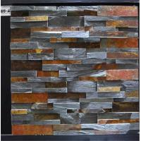 Moisture Resistant Slate Culture Stone Wall Decor Rust And Black Mixed Color Manufactures