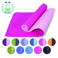 China RUNSEN TPE Eco Friendly Yoga Mat With Carry Strap Anti Slip Comfortable Exercise Mat on sale