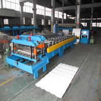 Colorful Metal Corrugated Board Roll Forming Machine Use Japanese Panasonic PLC Control and Hydraulic Cutting Manufactures