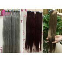 Virgin Tape In Double Drawn Remy Hair Extensions Keratin Skin Weft No Shedding Manufactures