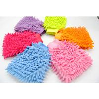 car cleaning used microfiber chenille car cleaning gloves Manufactures