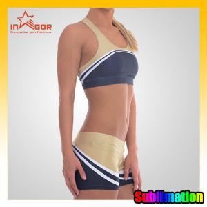 Customize Basketball Cheerleading Wear Blue Cheerleader Costume Manufactures