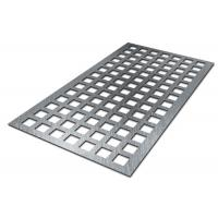 China CNC Galvanized Square Hole Punch Sheet Metal 0.5-2.5mm Thick 1.22x2.44m Panel Size on sale