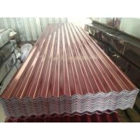 China PE Surface Protection Corrugated Galvanized Steel Sheet 26 Gauge 508mm Coil ID on sale