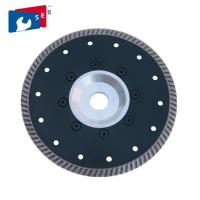 Marble Concrete Granite Diamond Saw Tools , Diamond Cutting Saw Blade With Flange Manufactures