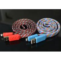 China 1M Length Micro Usb Charging Cable Abrasion Resistant Comfortable Fabric Touch on sale