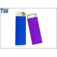Metal Slim Cuboid 16GB USB Flash Drive Electroplating Color Key Ring Attached Manufactures