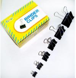 China Black Binder Clips (15mm, 19mm, 25mm, 32mm, 41mm, 51mm) on sale
