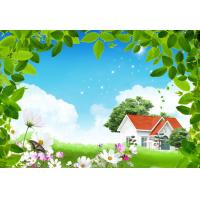 Clear and elegant non - woven cloth fabirc countryside landscape art Manufactures