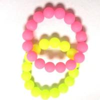 Silicone beaded bracelets customized Pantone colors Manufactures