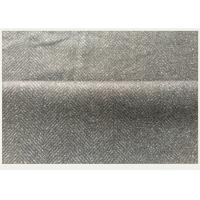 Windproof Black Winter Herringbone Wool Fabric In Stock 40 Polyester ISO9001 Manufactures