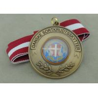 Buy cheap Zinc Alloy Material Soft Enamel Ribbon Medals Antique Brass Plating from wholesalers