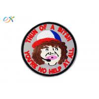 Decorative Embroidered Jacket Patches , Personalised Embroidered Patches For Clothing Manufactures