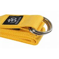 Yellow 8 Feet Yoga Stretch Strap Cotton Resistance Band Heavy Resistance Manufactures