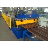 Trim Deck Profile Roll Forming Machine , 762mm Cover Width Wall Cladding Roll Former Manufactures