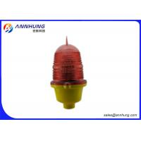 Steady Burning  Aircraft Warning Lights for Buildings with Aluminum Alloy Base Manufactures