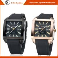 China CURREN Watches 8145 Fashion Jewelry Watch Roman Numbers Square Case Quartz Analog Watches on sale