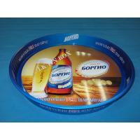 0.3mm Big Doulbe Sides Printed Round Tin Ice Bucket Beer Serving Tray Manufactures