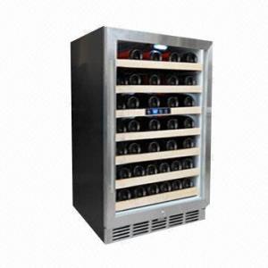 52-bottle Single Zone Compressor/Wine Cooler/Chiller/Fridge, CE/ETL/UL/RoHS Manufactures