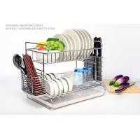 2 Tier Easy Install Kitchen Dish Drying Shelf With Removable Drain Board Manufactures