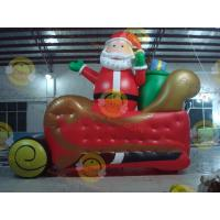 Quality Giant Inflatable Balloon Santa Claus For Christmas Decoration for sale
