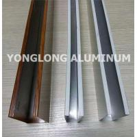 Mechanical Strength Aluminum Curtain Wall Profile Extrusions Rectangle Shape Manufactures