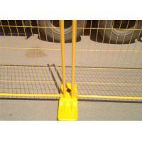 Yellow PVC Coated Hot Dipped Galvanized Temporary Fencing Panels  2100mm x 2400mm OD 32 x 2.00mm pipes thick AS4687-2007 Manufactures