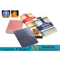 Texas Hold ' Em Poker Gaming Games Casino Playing Cards 3.3mm Thickness Manufactures