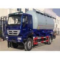 HOWO 6 Wheel Cement Carrying Trucks , 4x2 10m3 Bulk Tank Truck High Safety / Reliability Manufactures