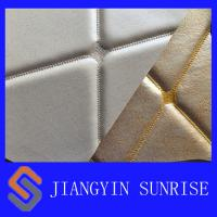 White Fake Leather Upholstery Fabric , Woven Twill Brushed Cloth PU Synthetic Leather Manufactures