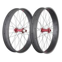 26 Inch Carbon Fat Wheels 650C 90mm 20mm Double Wall Bike Novatece Hub 32H Manufactures