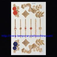Flash temporary tattoo gold silver tattoos Manufactures