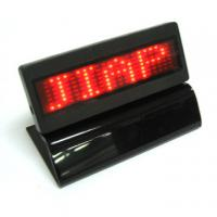 China Red light Led scrolling message display panel with base on sale